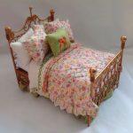 Фото 47: Кровать из проволоки для куклы