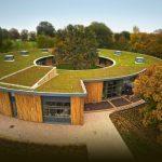 Фото 3: Плоская крыша круглой формы