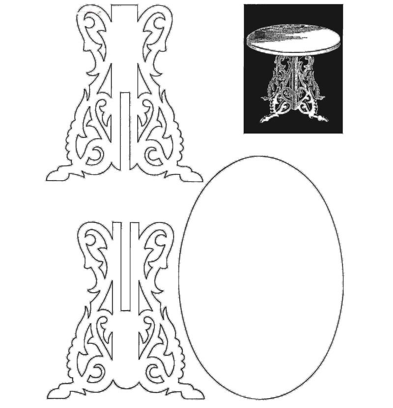 Чертеж столика из фанеры