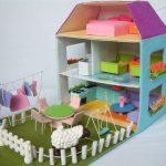 Фото 3: Мебель для кукол из фетра