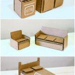 Фото 6: Мебель для кукол из картона