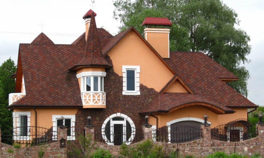 Комбинированная форма крыши