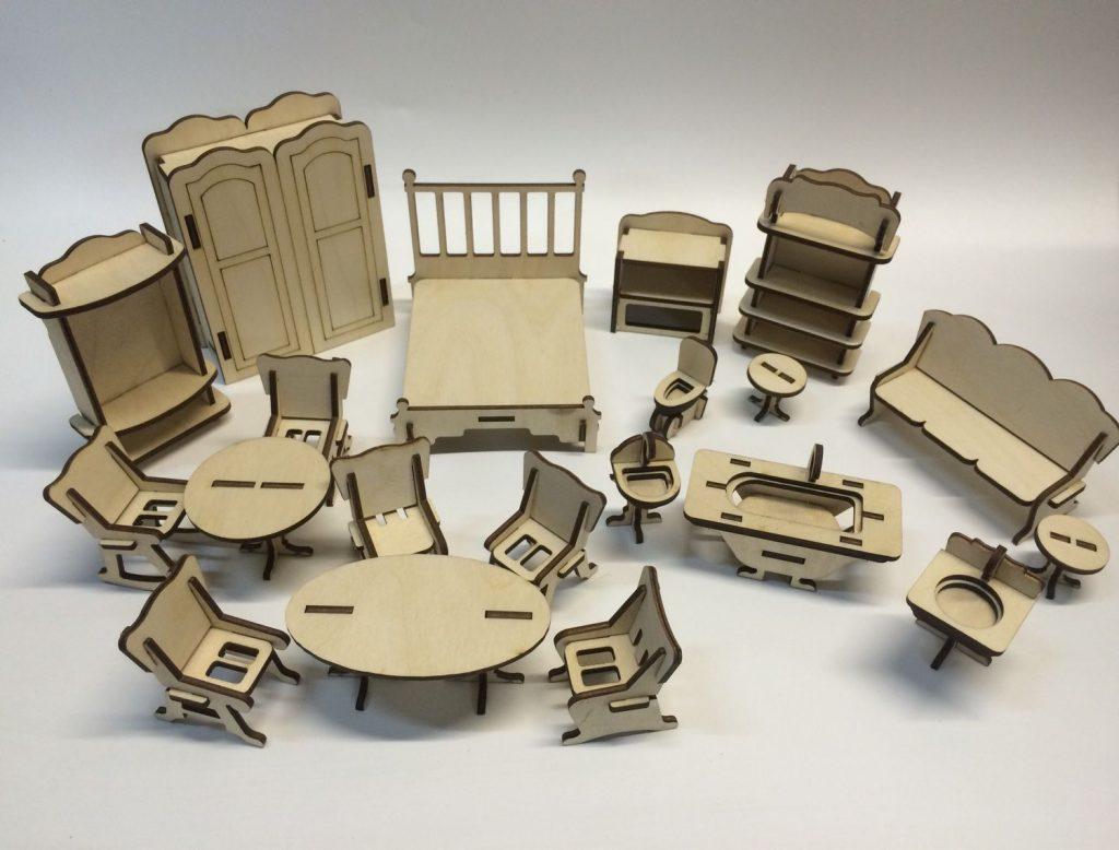 Мебель из фанеры для кукол