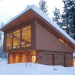 Фото 17: Односкатная крыша и снег