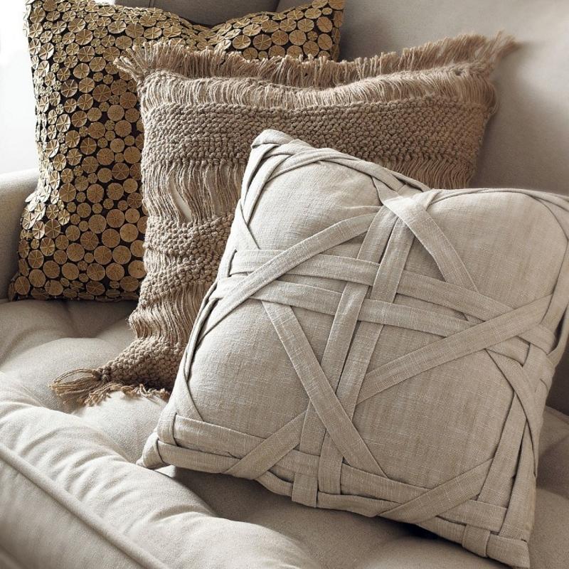 Чехлы подушек из натуральных материалов