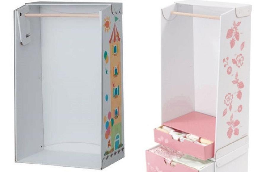 Шкаф для кукол из картона