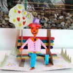 Фото 60: Скамейка из палочек от мороженного и картона