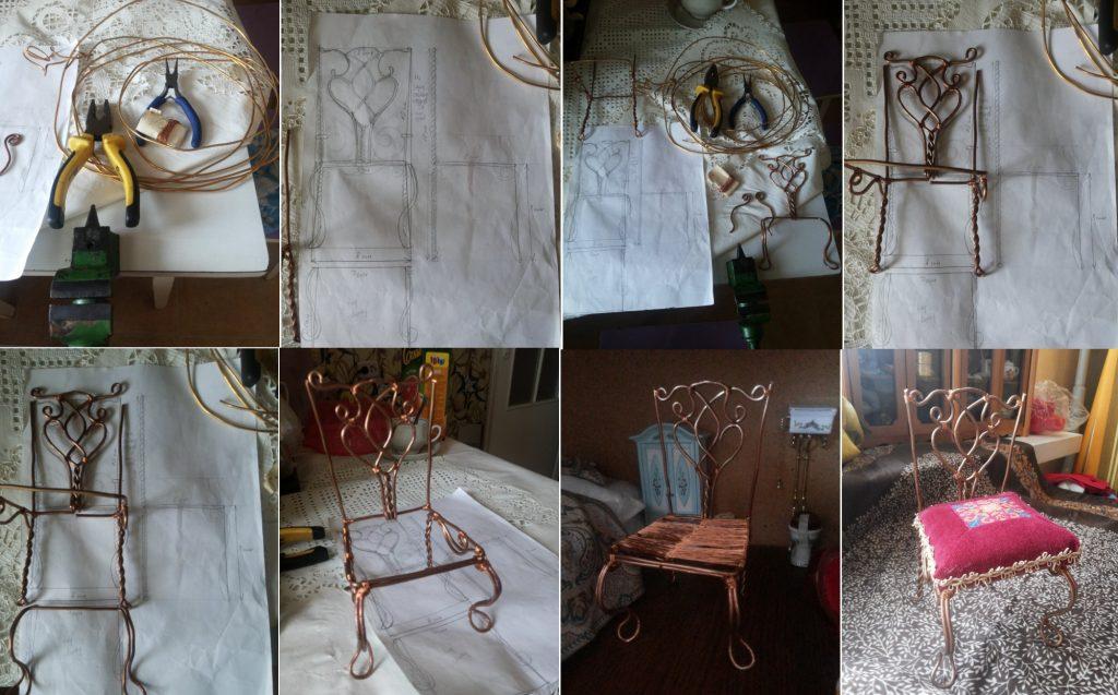 Изготовление стула из проволоки
