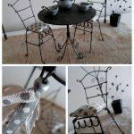 Фото 46: Стулья и столик для кукол из проволоки