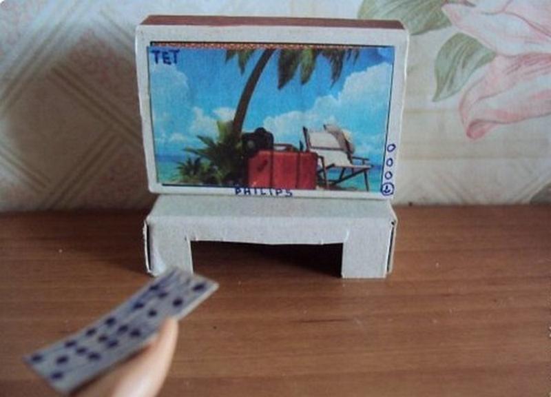 Мебель из спичечных коробков своими руками инструкция 53