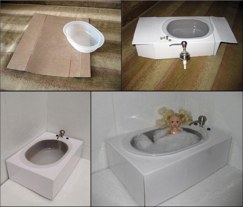 Изготовление ванны для куклы