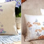 Фото 11: Вышивка в стиле прованс на подушках
