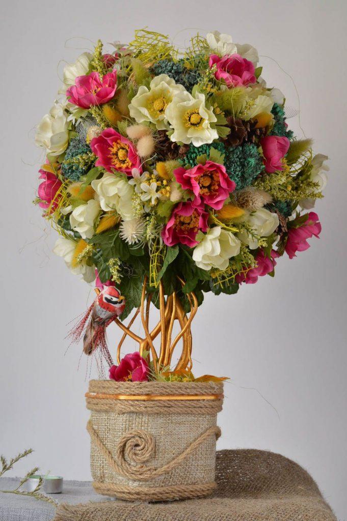 Поделки ваза с цветами из овощей 37