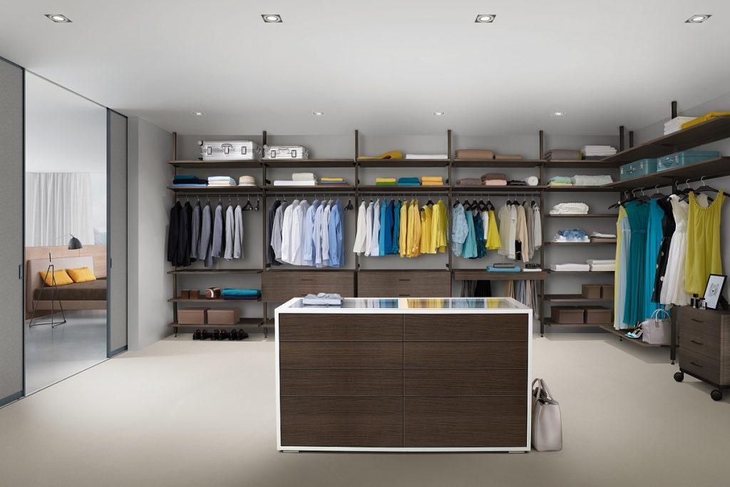 Бездверная система гардеробной