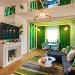 Фото 27: Бежевый и зеленый цвет в интерьере