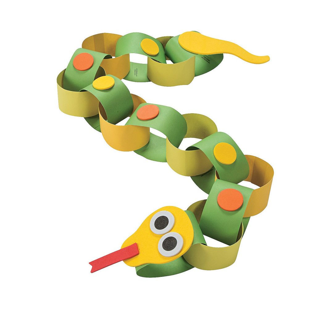 Цепочка змейка из бумаги