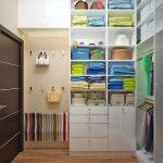 Фото 83: Дизайн небольшой гардеробной комнаты фото