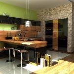 Фото 116: Дизайн стен на кухне