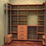 Фото 118: Дизайн угловой гардеробной