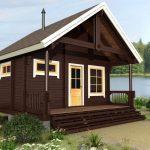 Фото 101: Двухкомнатный дачный домик с верандой