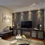 Фото 33: Интерьер комнаты телевизор на стене