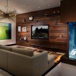 Фото 18: Ламинат на стене с телевизором