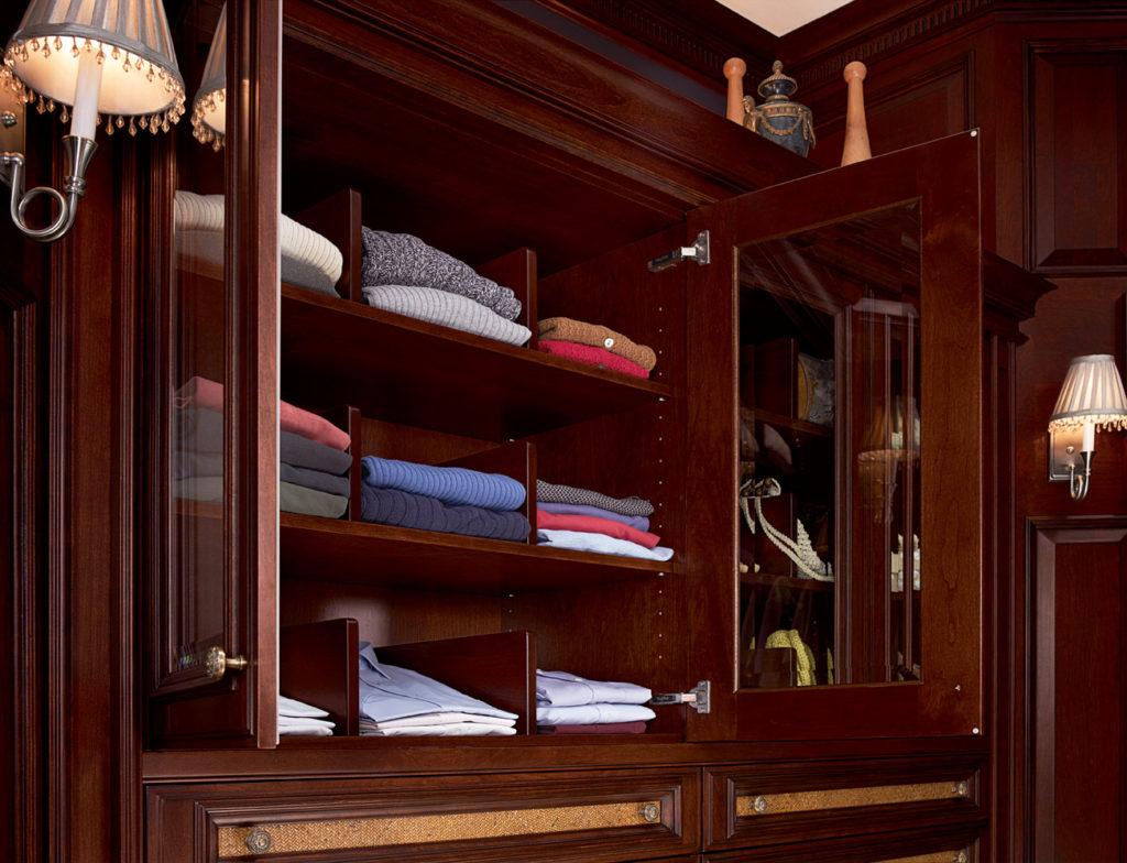 Линейная планировки гардеробной