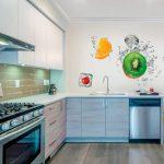 Фото 109: Материал стен на кухне