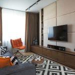 Фото 61: Мягкие панели на стене с телевизором