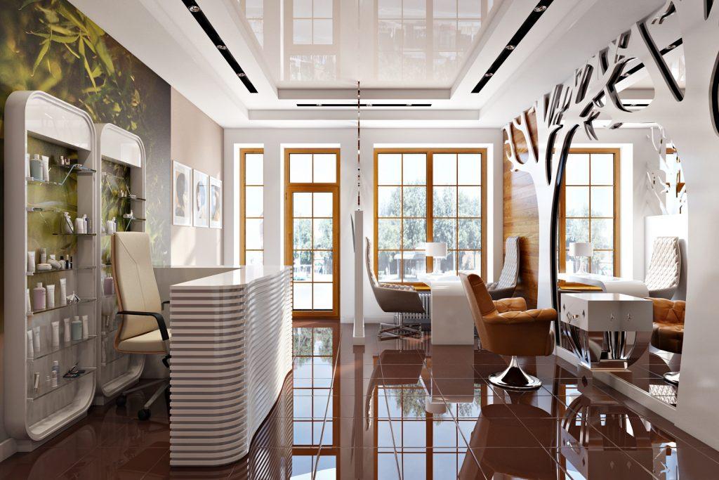 Дизайны интерьеров салонов красоты фото проекты
