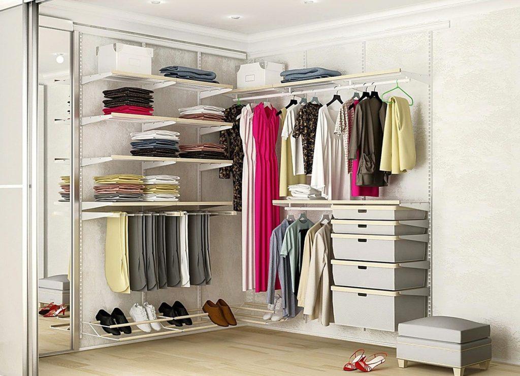 Освещение гардероба