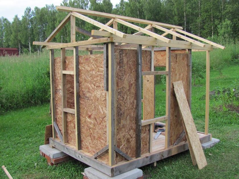 Строительство каркасного детского домика своими руками