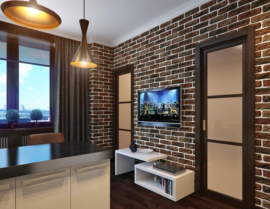 ТВ зона в гостиной
