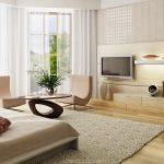 Фото 82: Телевизор на стене в гостиной