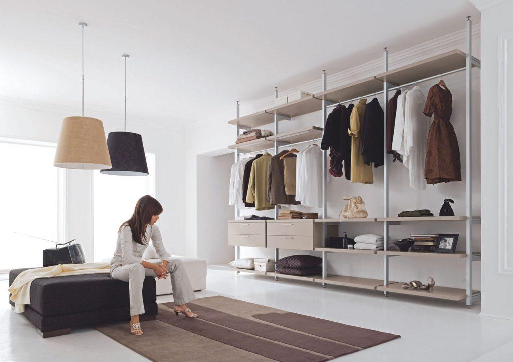Вариант отделки гардеробной