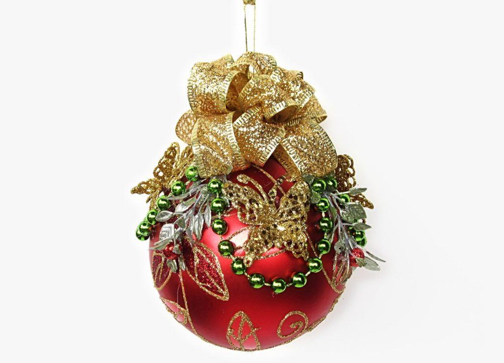 Винтажный новогодний шар