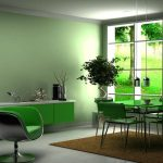 Фото 108: Зеленый цвет для стен в кухне