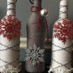Фото 23: Декор новогодней бутылки бечевкой