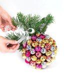 Фото 4: Новогодний букет-шар из конфет