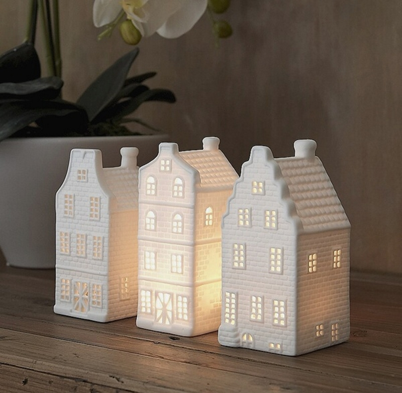Подсвечники голландские домики