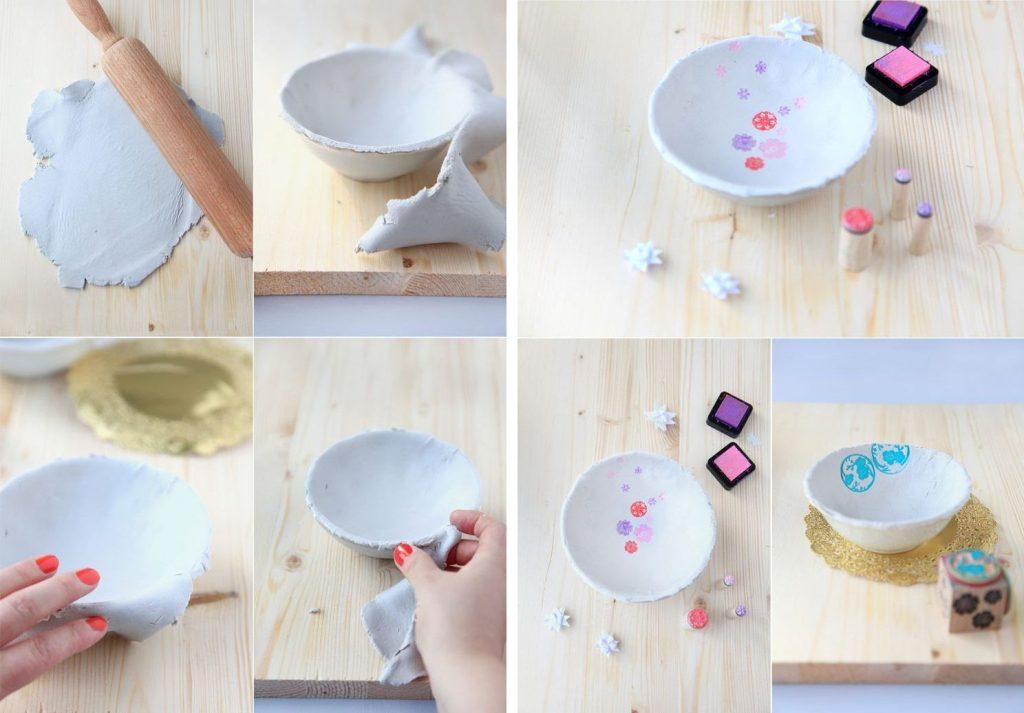 Декоративная чашка из холодного фарфора