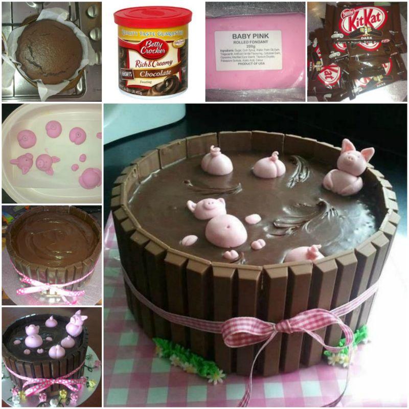 Шоколадный торт Свинки в грязи