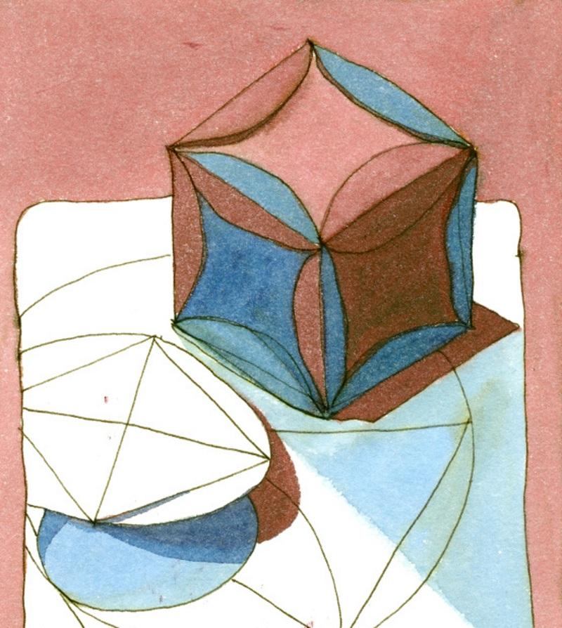 Куб из кругов бумаги