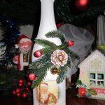 Фото 28: Елочный декор новогодней бутылки