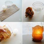 Фото 50: Декор подсвечника гофрированной бумагой