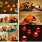 Фото 34: Подсвечники из апельсинов
