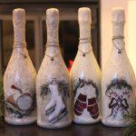 Фото 30: Декупажная композиция новогодних бутылок
