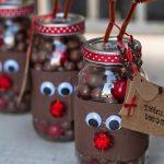 Фото 27: Оформление баночек из конфет