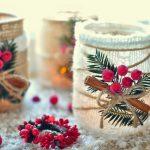Фото 15: Зимнее украшение подсвечников