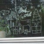 Фото 53: Рисунок на окне новогодний